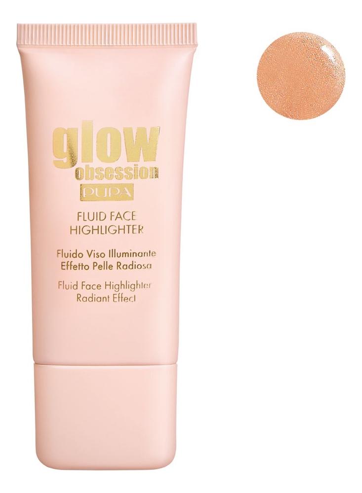 Купить Жидкий хайлайтер для лица Glow Obsession Fluid Face Highlighter 30мл: No 002, PUPA Milano