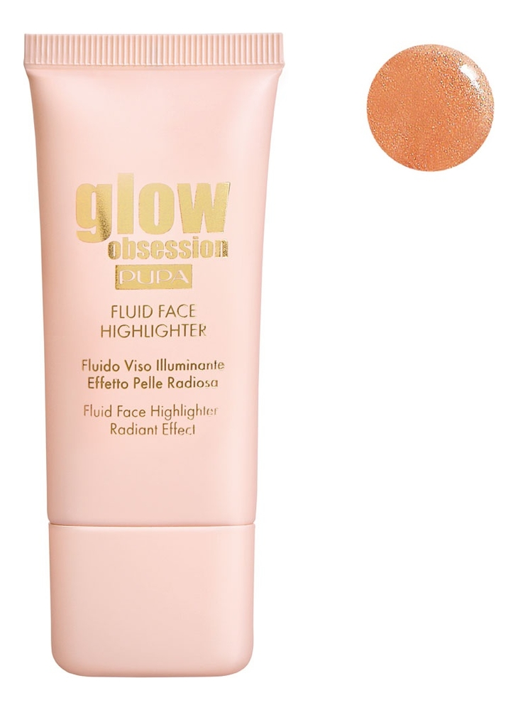 Купить Жидкий хайлайтер для лица Glow Obsession Fluid Face Highlighter 30мл: No 003, PUPA Milano