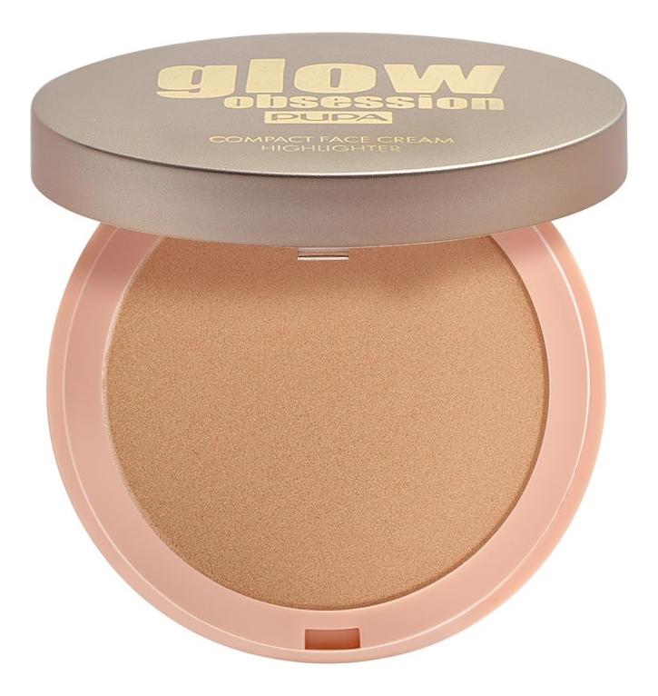 Компактный крем-хайлайтер для лица Glow Obsession Compact Face Cream Highlighter 9г: No 002