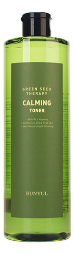 Купить Успокаивающий тонер для лица с экстрактами зеленых плодов Green Seed Therapy Calming Toner 500мл, EUNYUL