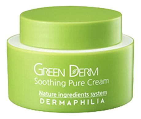 Натуральный увлажняющий крем-гель для лица Green Derm Soothing Pure Cream 50мл гель крем для лица alpha homme genwood hydro 50мл