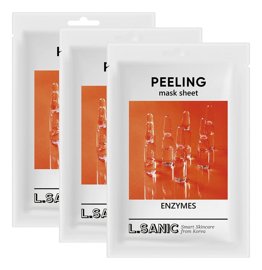 Тканевая маска для лица с энзимами Enzymes Peeling Mask Sheet 25мл: Маска 3шт, L.Sanic  - Купить