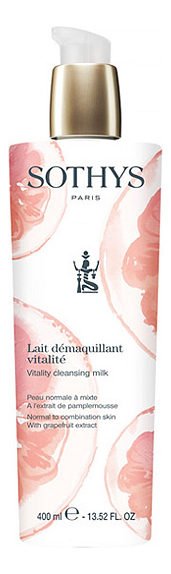 Фото - Очищающее молочко для лица Lait Demaquillant Vitalite: Молочко 400мл мицеллярное очищающее молочко для лица c экстрактом малины lait micellaire demaquillant 200мл