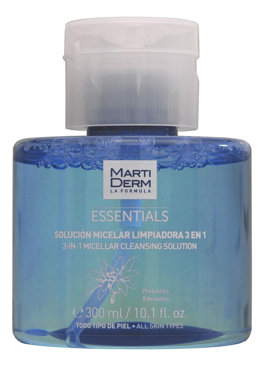 Мицеллярный очищающий раствор для лица 3 в 1 Essentials Micelar Cleansing Solution: Раствор 300мл недорого