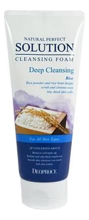 Купить Пенка для умывания с рисом Natural Perfect Solution Cleansing Foam Rice 170мл, Deoproce