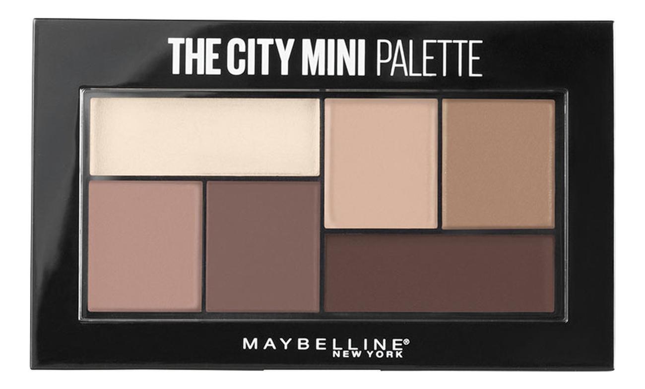 Палетка теней для век The City Mini Palette 6г: 480 Matte About Town