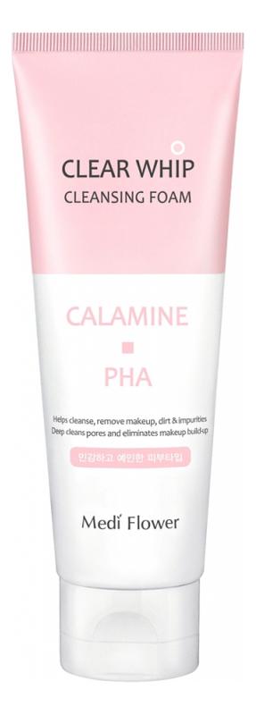 Пенка для умывания с каламином и PHA кислотами Calamine Clear Whip Cleansing Foam 120мл недорого