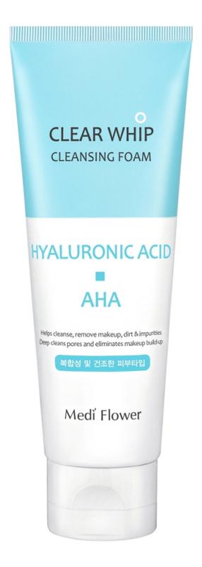 Купить Пенка для умывания с гиалуроновой кислотой и AHA кислотами Hyaluronic Acid Whip Cleansing Foam 120мл, Medi Flower
