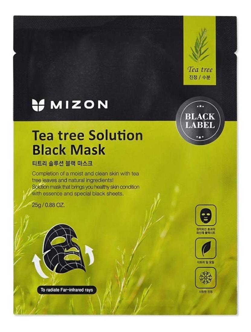 Тканевая маска для лица с экстрактом чайного дерева Tea Tree Solution Black Mask 25г недорого