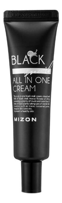 Купить Крем для лица с экстрактом черной улитки 90% Black Snail All In One Cream: Крем 35мл, Mizon