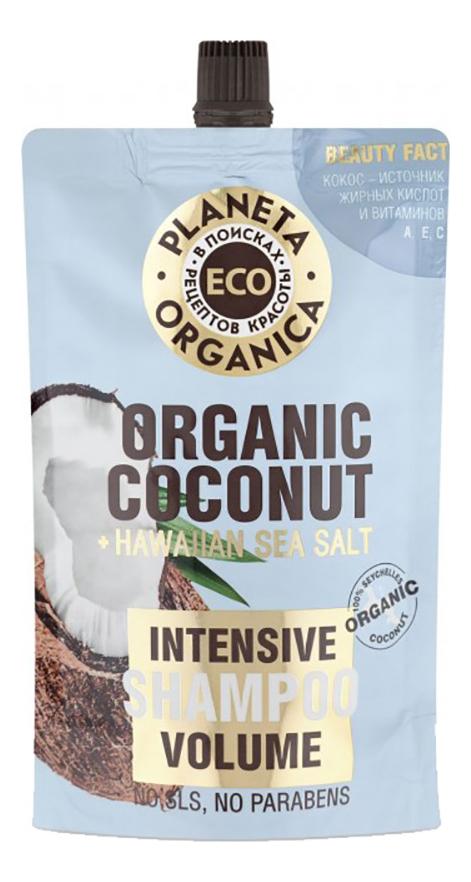 Шампунь для объема волос Eco Organic Coconut Intensive Volume Shampoo 200мл фото