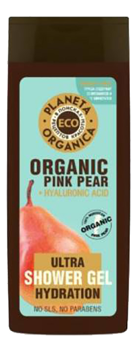 Увлажняющий гель для душа Eco Organic Pink Pear Ultra Hydration Shower Gel 340мл