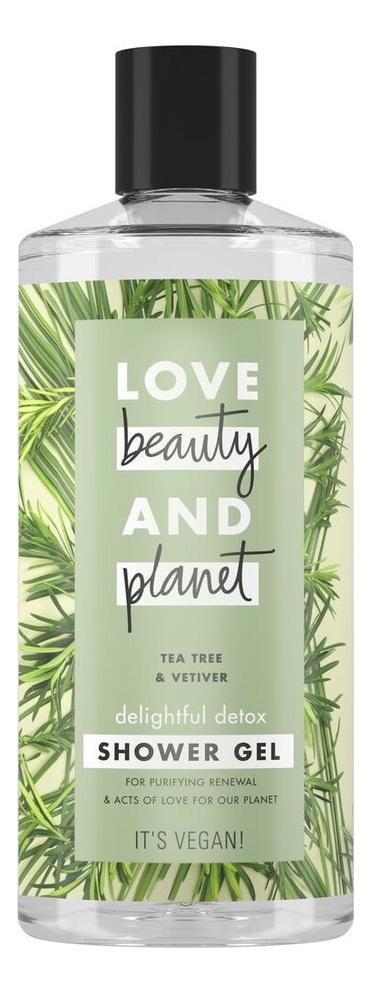 Гель для душа Чайное дерево и ветивер Tea Tree & Vetiver 400мл