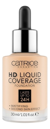 Тональная основа для лица HD Liquid Coverage Foundation 30мл: 005 Ivory Beige