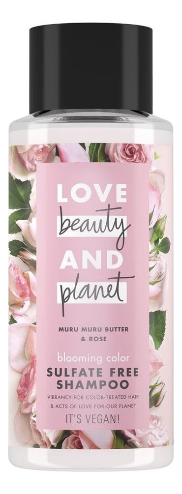 Бессульфатный шампунь для волос Muru Butter & Rose Sulfate Free Shampoo 400мл