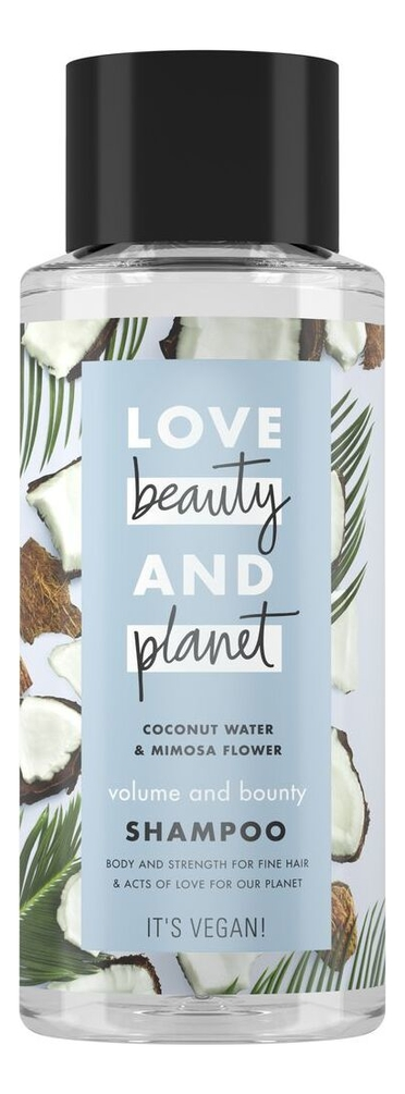 Купить Шампунь для волос Кокосовая вода и цветы мимозы Coconut Water & Mimosa Flower Shampoo: Шампунь 400мл, Шампунь для волос Кокосовая вода и цветы мимозы Coconut Water & Mimosa Flower Shampoo, Love Beauty & Planet