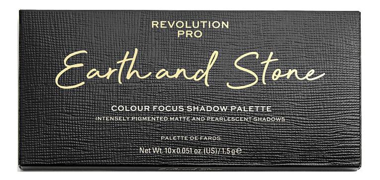 Купить Палетка теней для век Earth And Stone Colour Focus Shadow Palette 15г, Revolution PRO