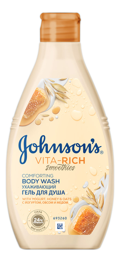 Купить Гель для душа с йогуртом, овсом и медом Johnson's Vita-Rich Comforting Body Wash 250мл, Johnson's