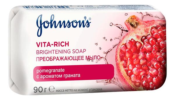 Преображающее мыло с экстрактом цветка граната Johnson's Vita-Rich Brightening Soap 125г недорого