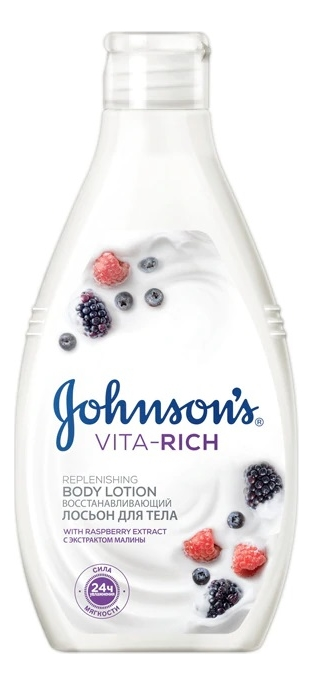 Купить Лосьон для тела с экстрактом малины Johnson's Vita-Rich Replenishing Body Lotion 250мл, Johnson's