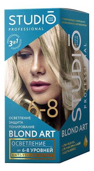 Интенсивный осветлитель для волос 3D осветление 2*25г/100мл/25мл: 6-8 тонов