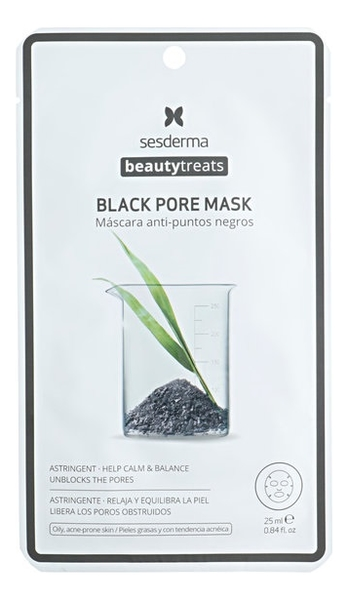 Тканевая маска очищающая для лица Beauty Treats Black Pore Mask 25мл недорого