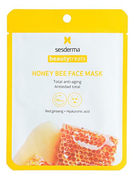 Тканевая маска для лица с медом Beauty Treats Honey Bee Face Mask 22мл недорого