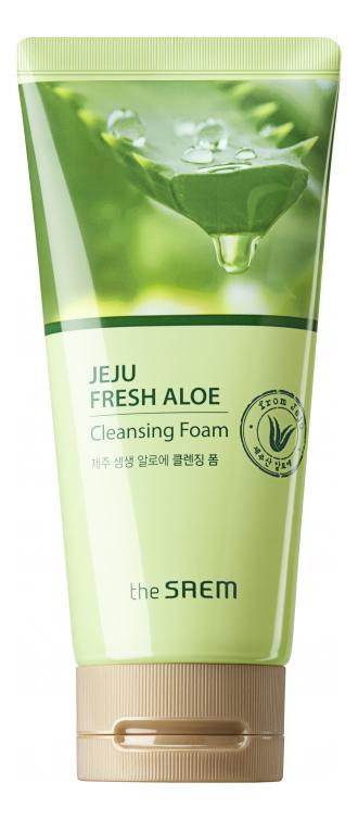 Пенка для умывания с экстрактом алоэ вера Jeju Fresh Aloe Cleansing Foam 150г пенка очищающая с экстрактом алоэ aloe cleansing foam 180мл