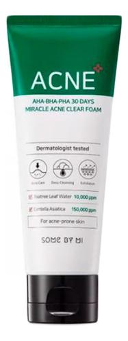 Пенка для проблемной кожи с кислотами AHA-BHA-PHA 30 Days Miracle Acne Clear Foam 100г фото