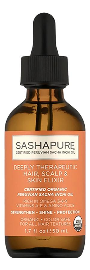 Восстанавливающее средство для волос Deeply Therapeutic Hair Scalp & Skin Elixer 50м