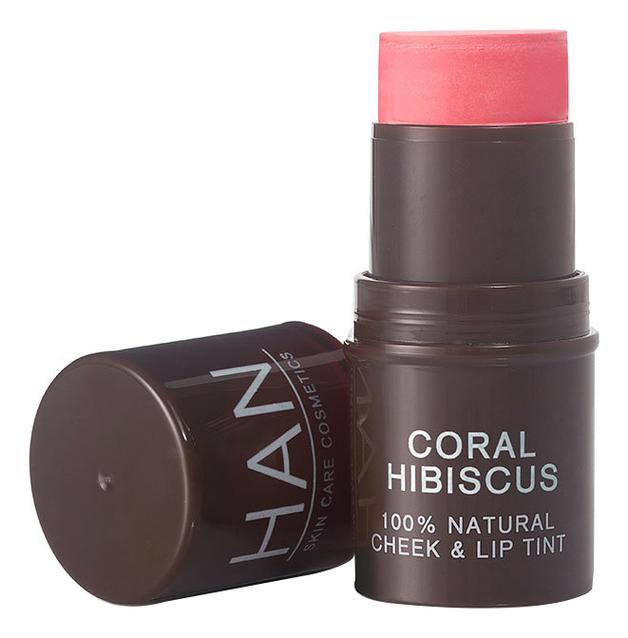 Помада-тинт для губ и щек 100% Natural Cheek & Lip Tint 5,7г: Coral Hibiscus недорого