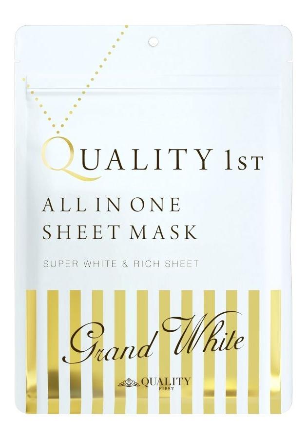 Купить Тканевая маска выравнивающая цвет кожи лица маска All In One Sheet Mask Grand White: Маска 7шт, Quality 1st