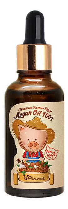Масло для лица и тела Farmer Piggy Argan Oil 100% 30мл elizavecca farmer piggy argan oil 100% сыворотка для лица с аргановым маслом 30 мл