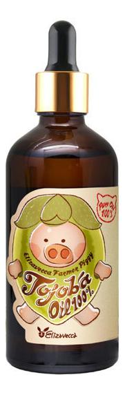 Сыворотка для лица с маслом жожоба Farmer Piggy Jojoba Oil 100% 100мл elizavecca farmer piggy argan oil 100% сыворотка для лица с аргановым маслом 30 мл