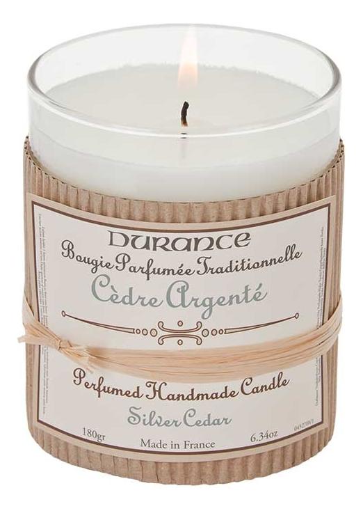 Фото - Ароматическая свеча Perfumed Handmade Candle Silver Cedar 180г (серебряный керд) ароматическая свеча кедр cedar свеча 380г