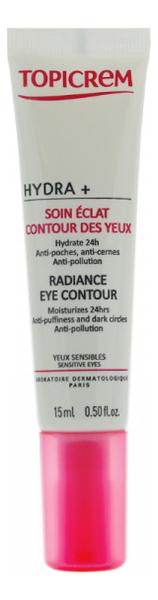 Купить Крем для кожи вокруг глаз с эффектом сияния Hydra+ Soin Eclat Contour Des Yeux 15мл, TOPICREM