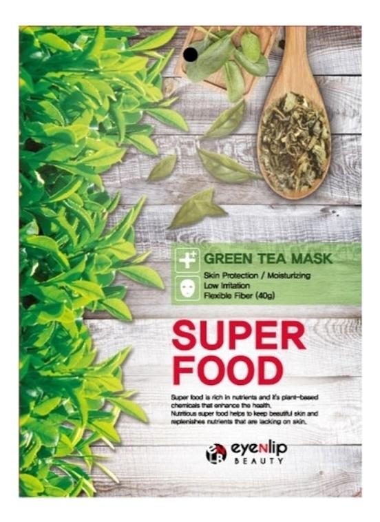 Тканевая маска для лица с экстрактом зеленого чая Super Food Green Tea Mask 23мл