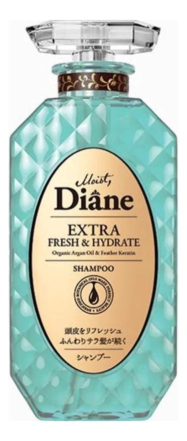 Купить Кератиновый шампунь для волос Свежесть Beauty Extra Fresh & Hydrate Shampoo 450мл, Кератиновый шампунь для волос Свежесть Beauty Extra Fresh & Hydrate Shampoo 450мл, Moist Diane