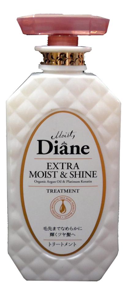 Купить Кератиновая маска для волос Увлажнение Extra Moist & Shine Treatment 450мл, Кератиновая маска для волос Увлажнение Extra Moist & Shine Treatment 450мл, Moist Diane