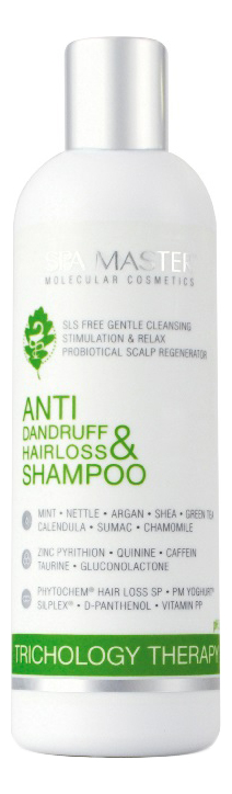 Фото - Шампунь против перхоти и выпадения волос Anti Dandruff & Hairloss Shampoo 330мл spa master шампунь repair line