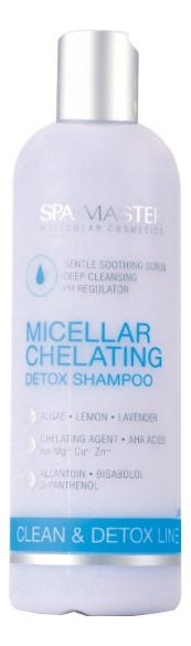 Фото - Мицеллярный хелатирующий детокс шампунь для волос Micellar Chelating Detox Shampoo 330мл spa master шампунь repair line