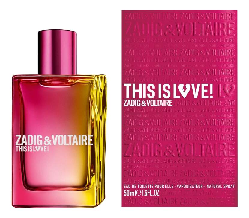 Zadig & Voltaire This Is Love! For Her: туалетная вода 50мл