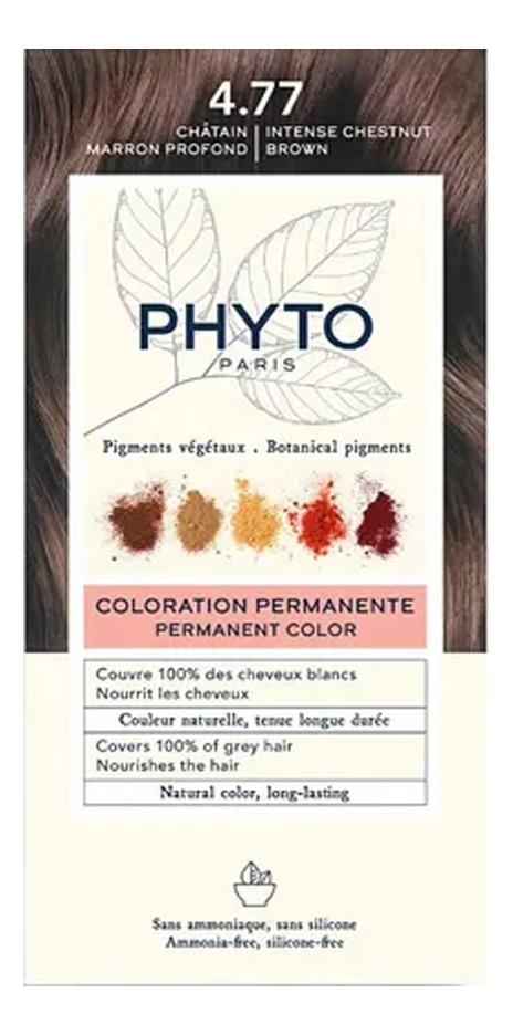 Краска для волос Phyto Color: 4.77 Насыщенный глубокий каштан phyto color 6