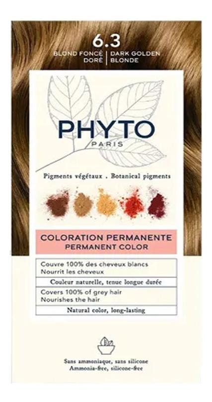 Краска для волос Phyto Color: 6.3 Темный золотистый блонд phyto color 6