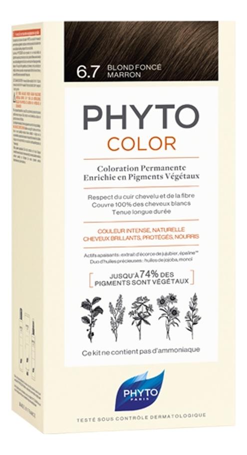Краска для волос Phyto Color: 6.7 Темный шоколадный блонд phyto color 6
