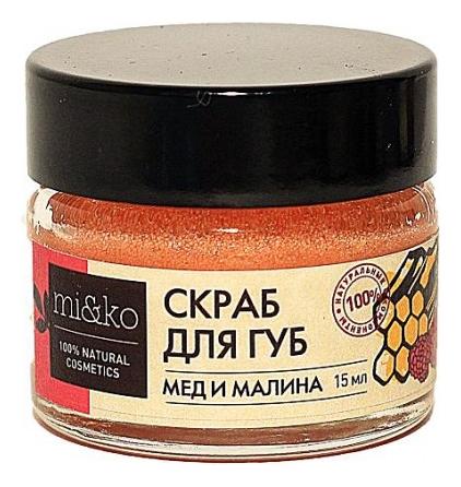Купить Скраб для губ Мед и малина 15мл, mi&ko