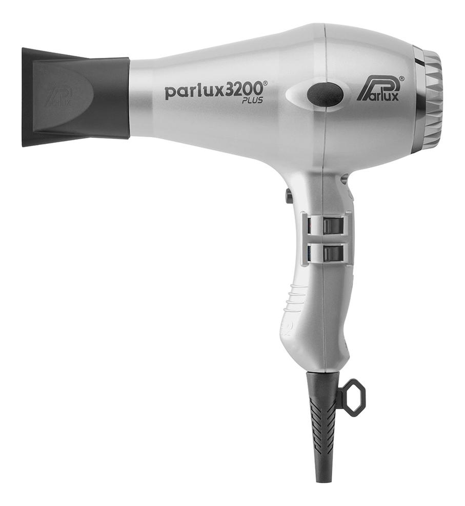 Фен для волос Compact 0901-3200 Plus Silver 1900W (2 насадки, серебристый) фен для волос compact 0901 3200 plus red 1900w 2 насадки красный