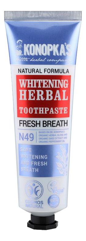 Отбеливающая травяная зубная паста Whitening Herbal Toothpaste 75мл зубная паста 5 star cosmetic травяная с экстрактом кокоса 25гр