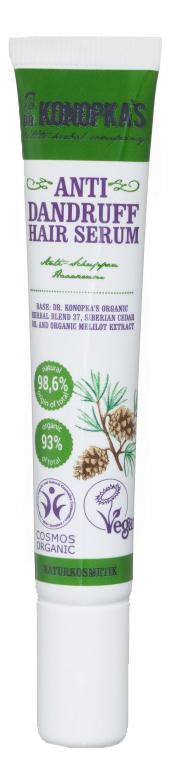 Сыворотка для волос против перхоти Anti Dandruff Hair Serum 20мл регенерирующая сыворотка для волос sp reverse 3 minute hair treatment 6 20мл
