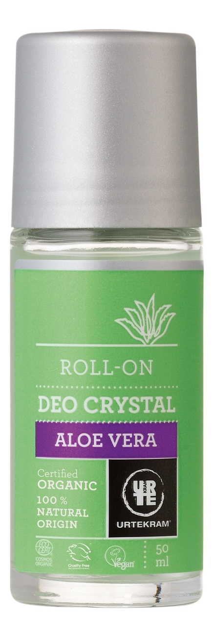 Шариковый дезодорант-кристалл с экстрактом алоэ вера Organic Roll-On Deo Crystal Aloe Vera 50мл